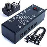 GUITAR EFFECTS FX MULTI 9 VOLT POWER SUPPLY - POWERS UP TO 10 PEDALS INCLUDES CABLES