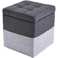 Preisvergleich für Lagerung Hocker LXF Storage Hocker Ändern Schuhbank Ottoman Sofa Wohnzimmer Hocker Sitzhocker Cube Veranstalter Foldaway Aufbewahrungsbox (Farbe : Gray)