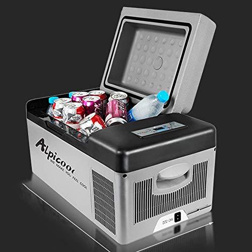 SSLL Car Refrigerator Mini Tragbarer Kompressor-Kühlschrank Tragbare Thermo-elektrische Kühlbox/Heizbox 25 Liter 12/24 V DC/ 220-240 Volt AC Für Auto, LKW, Boot Und Steckdose,CarHome+Bag