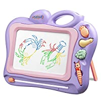 BCMRUN Magnetic Drawing Board, 11.4inch Drawing Area Erasable Portable Colorful Magna Doodle for Kid Learning Painting