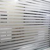 Liebe Home Frosted pel¨ªcula para ventanas de vidrio tiras de decoraci¨®n de cristal particiones autoadhesivas para la oficina 45*200cm