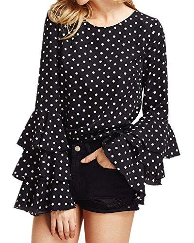 styledome-mujer-camiseta-mangas-largas-volantes-lunares-blusa-elegante-noche-casual-oficina-negro-eu
