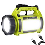 LE 1000lm Rechargeable LED Spotlight, Portable Camping Lantern, Power Bank, Waterproof, Dimmable, 10W 5 Modes, LED Searchlight, High Power Beam Flashlight Torch for Home Indoor Outdoor Tent Emergency