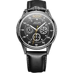 YPS Men Number Nail Shape Scale Quartz Movement Multifunction Sub Dials Luminous Wristwatch WTH5372