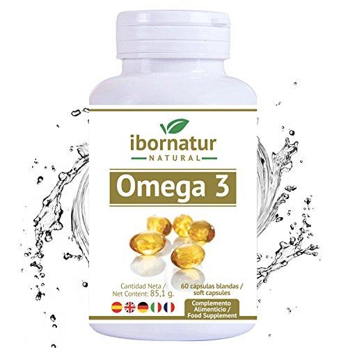Omega 3 capsulas fish oil | Aceite de Pescado 1000 mg | Mayor pureza y frescura Gran potencia EPA DHA | Complemento alimenticio Premium | 100% Garantía y Envío Gratuito
