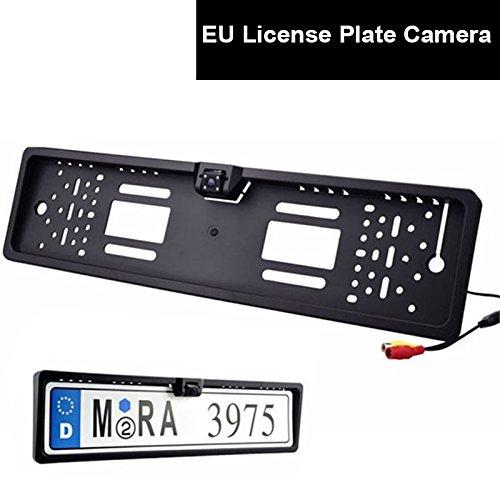 Auto Farb Rückfahrkamera EU Kennzeichen Nummernschild Halter Einparkhilfe Kamera LED Nachtsicht Wasserdicht Autoparksysteme -