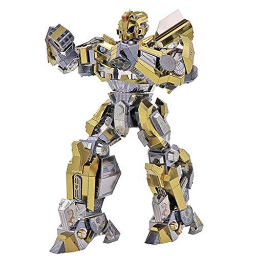 3D Bumblebee Roboter Verformung Spielzeug King Kong 5 dreidimensionales Metall Puzzle Modell große DIY Geburtstagsgeschenk Junge Blau + Werkzeug A + B One Size -