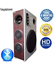 Bayspower Earthquake Heavy Bass 28000 W PMPO DJ Tower Speaker Home Theatre System with Bluetooth, MIC,Aux,FM,USB,TV,Remote Control Support.(Model-722 Updated)