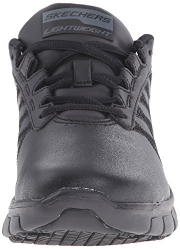 Skechers Womens/Ladies Sure Track Erath Slip Resistant Leather Shoes Noir