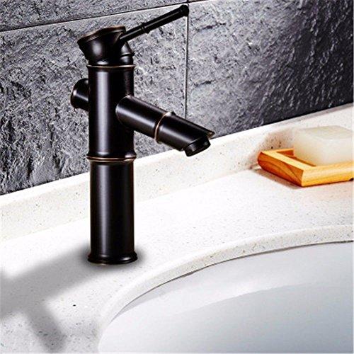 D1-licht-bad (LHbox Bad Armatur in Bad für Waschbecken Waschtisch Wasserhahn Waschtischarmatur Becken Breite Wasseranschluß Antik Kupfer Schwarz Warme und Kalte Oberfläche Becken Wasser Mischventil, D1)