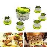 Ausstechformen, Plätzchen Ausstecher, 6 Stück Edelstahl Keksausstecher, Torten Deko, Fondant Ausstecher Backzubehör für Kuchen Plätzchen Gemüse Obst
