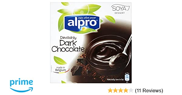 Alpro Devilishly Dark Chocolate Soya Dessert Uht 4 X 125g 500g