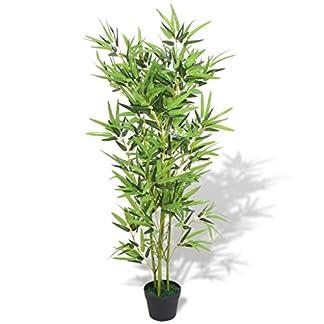 vidaXL Bambú Plantas Artificiales Hogar Decoración Natural Verde Hermosa