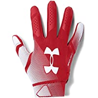 521a3d5fe8f Under Armour - Spotlight NFL American Football Handschuhe - Red White -  Small