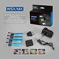 Bluelover 4 in 1 caricatore 3.7V 520MAH 30C Lipo batteria per WLtoys V977 V930 XK (Max Carico Di Lavoro)