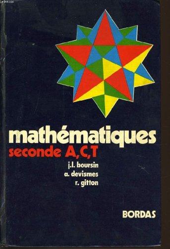 Mathematiques seconde a, c, t