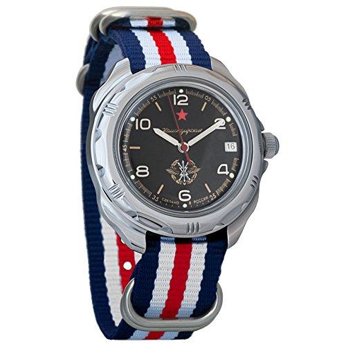 Vostok Komandirskie Military Russian Mechanical Mens Wrist Watch 2414A/211296