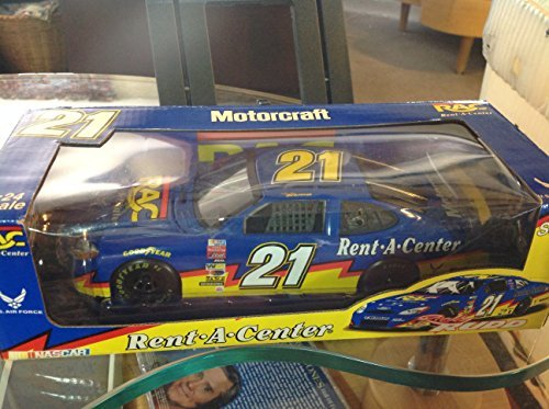 nascar-motorcraft-rent-a-center-us-air-force-diecast-car-ricky-rudd-21-124-scale-by-team-caliber