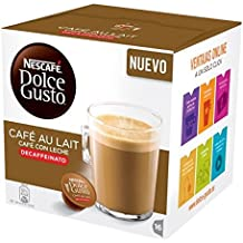 Nescafe DOLCE GUSTO Pods / Capsules - CAFE AU LAIT DECAF = 16 pods (pack of 3)