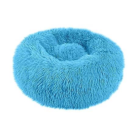 Blaue Kornblume Haustierbett Hunde Katzen Hundebett Katzenbett Rundes Plüsch Hundesofa Katzensofa Kissen in Doughnut…