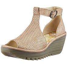 Fly London Women's YALL962FLY Open Toe Sandals, Gold (Luna 004), 5 (38 EU)