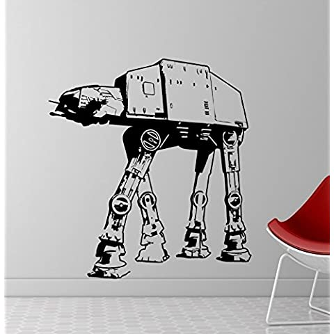 Pared Adhesivo imperialer AT-AT Walker Star Wars, vinilo, negro, XL