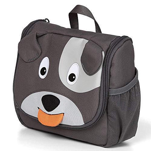 Affenzahn Kulturtasche Hugo Hund für Kinder - Grau