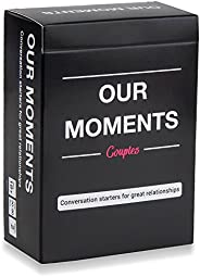 OUR MOMENTS Couples: 100 Thought Provoking Conversation Starters for Great Relationships - Fun Conversation Ca