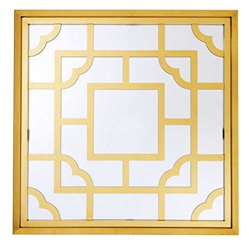 Casa Padrino Luxus Designer Wandspiegel Gold 100 x 100 cm - Luxury Hotel Collection