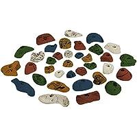ALPIDEX 35 presas set de iniciación para niños - para aprox. 3 a 5 m² de superficie de escalada, Color:mixto