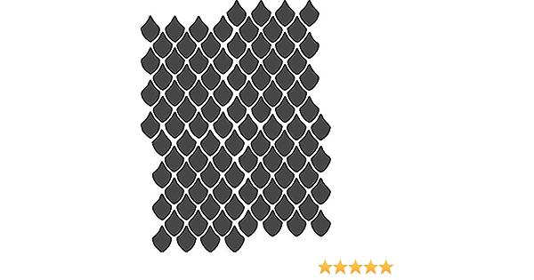 Dragon Scales Motif stencil-Réutilisable 6 x 8 in environ 20.32 cm