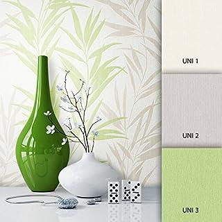 NEWROOM Blumentapete Tapete Weiß Blumen Blätter Floral Vliestapete Vlies moderne Design Optik Modern inkl. Tapezier Ratgeber