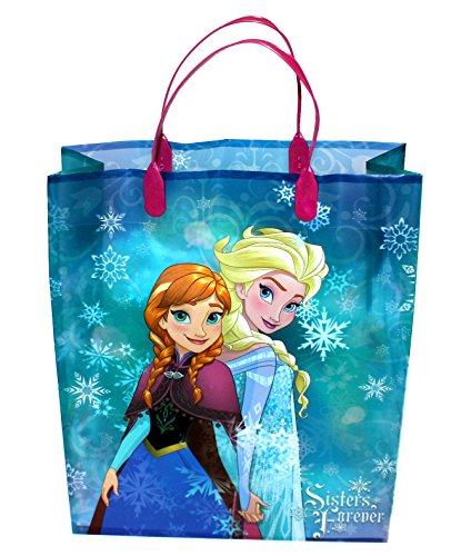 Preisvergleich Produktbild 12 Stück Disney Frozen - Die Eiskönigin Geschenktüten für Mitgebsel 32x27x10cm Blau/Türkis