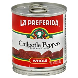 La Preferida Whole Chipotle Peppers in Adobo Sauce 198 g (Pack of 3)