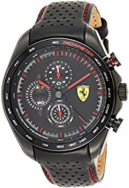 Ferrari Unisex-Adult Quartz Watch, Analog Display and Leather Strap 830647