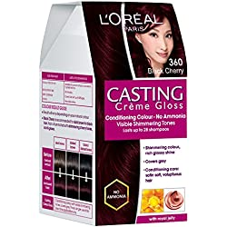 L'Oreal Paris Casting Creme Gloss, Black Cherry 360, 87.5g+72ml
