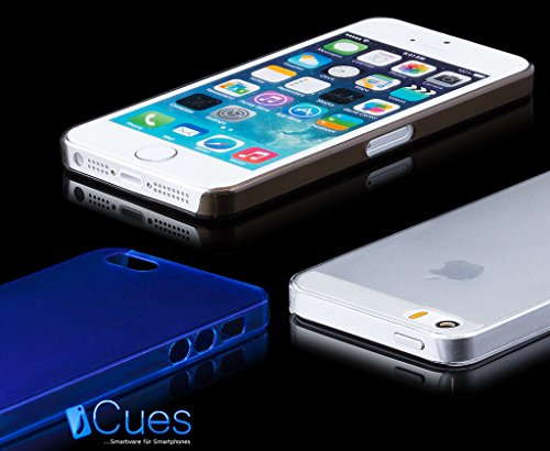 iCues Apple iPhone SE / 5S / 5 |  Ultra Slim Matt Case Türkis | [Display Schutzfolie Inklusive] Extra Leicht sehr Dünn Transparent Klarsichthülle Durchsichtig Klare Klarsicht Schutzhülle Hülle Cover S Pink