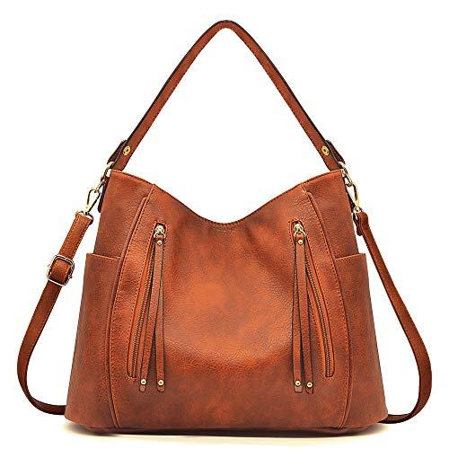 BestoU Handtasche in braun - Umhängetasche