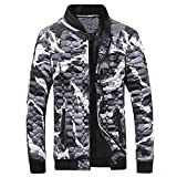 Herren Warme Winterjacke Stehkragen Daunenjacke Camouflage Basic Down Jacket Slim Fit Übergangsjacke Steppjacke Outwear Mantel Männer Herrenjacke von Innerternet