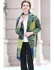 YRF Manteau de laine automne. Manteau de laine. Costume comme les manteaux d'hiver Plaid. Dans le trench-coat long
