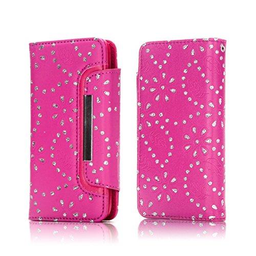 Hülle für iPhone 7 plus , Schutzhülle Für IPhone 7 Plus, Ahorn Blätter Muster Magnetische Klappe Gürtelschnalle 2 In 1 Abnehmbare Koffer PU Leder Flip Stand Brieftasche Fall Deckung ,hülle für iPhone  Rose