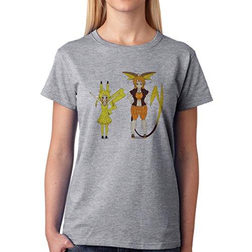 Pokemon Raichu Electric Pikachu Human Damen T-Shirt Grau