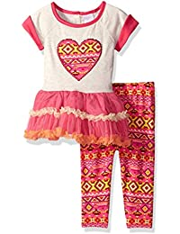 Youngland Baby Girls' Heart Tutu Dress with Knit Aztec Legging