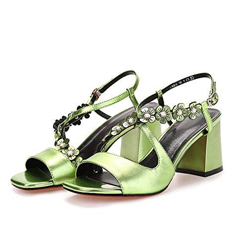Estate moda donna sandali comodi tacchi alti,37 viola tacchi alti 12cm Green