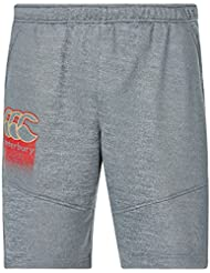Canterbury Vapodri CCC–Los Hombres De forro polar gimnasio pantalones de entrenamiento, hombre, color Static Marl/Red Logo, tamaño L