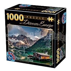 D-Toys 75949/DE 09 - Puzzle (1000 Piezas), diseño de Europa de Italy South Tyrol