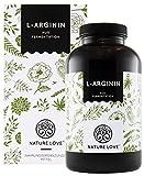 NATURE LOVE® L Arginin - Aktionspreis - 365 vegane Kapseln - hochdosiert: 4500mg L-Arginin HCL (= 3750mg reines L-Arginin) je Tagesdosis, aus pflanzlicher Fermentation, hergestellt in Deutschland