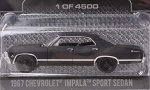 Chevrolet Impala Sport Sedan, matt-schwarz , 1967, Modellauto, Fertigmodell, Greenlight 1:64