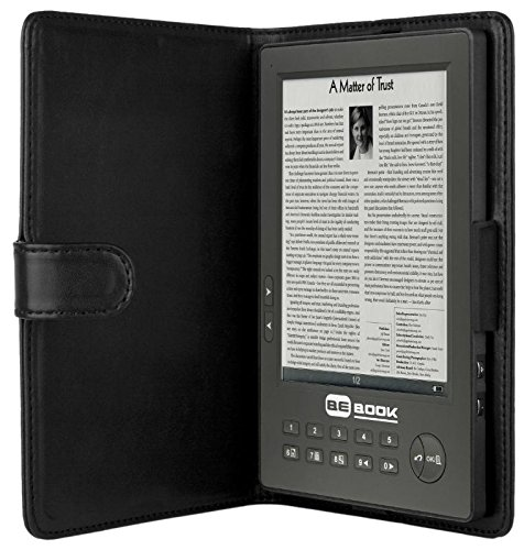 Endless Ideas BeBook E-Book Lesegerät (15,2 cm (6 Zoll) E-Ink Display, 512 MB interner Flashspeicher, SD-Karte Speicherplatz, 3,5 mm Audio-Anschluß, Ledertasche, Kopfhörer, USB 1.1) schwarz 2009 Usb