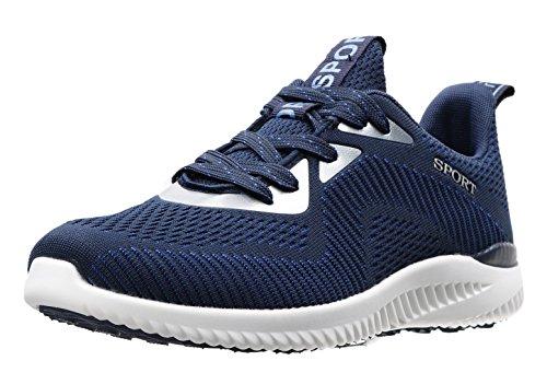 JOOMRA Damen Sport und Freizeit Running Schuh Schuhe Sportschuhe auf der Straße und Offroad Mädchen und Jungen Sneaker Blau Weiss Weiß 36 EU (37 Asien) (Off-road-laufschuhe)